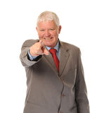 Successful Mature Businessman Pointing Stock Photography