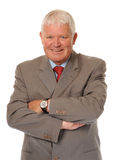 Successful Mature Businessman With Arms Folded Royalty Free Stock Photo