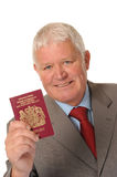 Successful Mature Businessman With Passport Royalty Free Stock Photos