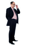 Successful matured businessman smiling Royalty Free Stock Images