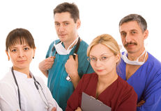 Successful medical team. On white background Stock Photo