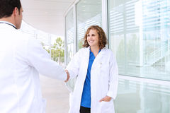 Successful Medical Team Handshake Royalty Free Stock Photos