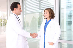 Successful Medical Team Handshake Stock Photos