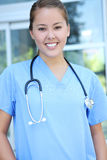 Successful Medical Woman Nurse at Hospital Royalty Free Stock Photography