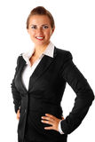 Successful modern business woman isolated on white Royalty Free Stock Image