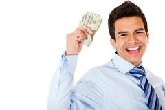 Successful money broker Royalty Free Stock Images