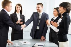 Successful negotiations Stock Photo