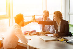 Successful negotiations in office royalty free stock images