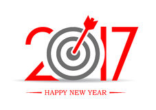 2017 successful new year greeting symbol. Vector illustration Stock Photo