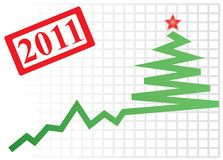 Successful New year's graph Royalty Free Stock Image
