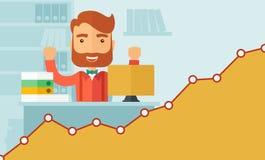 Successful office clerk Stock Image