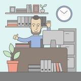 Successful office clerk Stock Photos