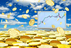 Successful operations in the foreign exchange market. Royalty Free Stock Photo