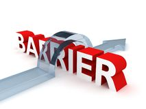 Successful Overcoming The Difficult Barrier Royalty Free Stock Photography