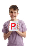 Successful P Plate Driver Royalty Free Stock Images