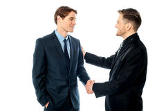 Successful partners shaking hands Stock Photography