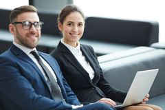 Successful partners stock photography