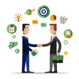 Successful partnership, business people Royalty Free Stock Photos
