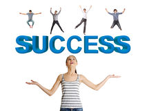Successful people concept Royalty Free Stock Photos