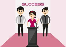 Successful people are always happy. Do not be afraid to succeed to be happy Stock Images