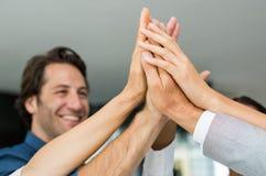 Successful people raising hands Stock Image