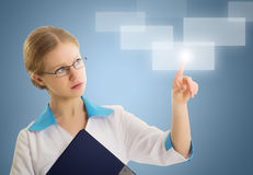 Successful person,  innovative technologies Royalty Free Stock Photo