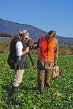 Successful pheasant hunters Stock Photos