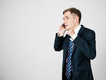 Successful phone call. Royalty Free Stock Photos