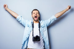 Successful photographer. Stock Images