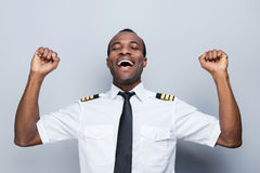 Successful pilot. Royalty Free Stock Photo