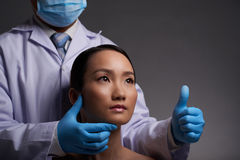 Successful plastic surgery Stock Image
