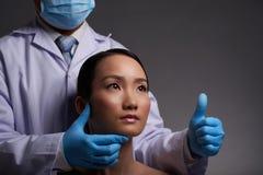 Successful plastic surgery Stock Image