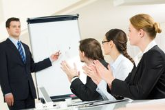 Successful presentation Royalty Free Stock Photo