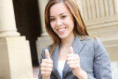 Successful Pretty Business Woman Stock Photo