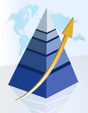 Successful pyramid royalty free illustration