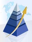 Successful pyramid Stock Photo