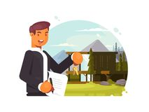 Successful realtor sells property Stock Images