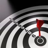 Successful red dart Stock Image