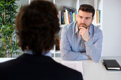 Successful and relaxed job interview Stock Photography