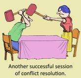 Successful resolution stock illustration