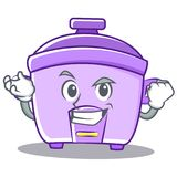 Successful rice cooker character cartoon Royalty Free Stock Images