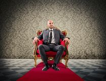 Successful royal businessman Royalty Free Stock Images