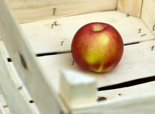 Successful sale of fruit - apple in crate Stock Photo