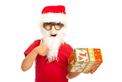 Successful Santa kid Royalty Free Stock Photography
