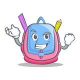 Successful school bag character cartoon. Vector illustration Stock Photography