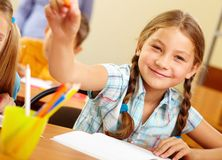 Successful schoolchild Royalty Free Stock Photos