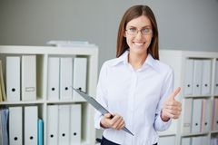 Successful secretary Royalty Free Stock Photos