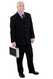 Successful senior business man with briefcase Stock Images