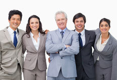Successful senior businessman with his team Stock Images