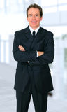 Successful Senior Businessman Smiling Royalty Free Stock Images